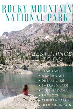 Dream Lake Colorado, Rocky Mountains Colorado, Road Trip To Colorado, Colorado Hiking, Emerald Lake Colorado, Colorado National Parks, Estes Park Colorado, Rocky Mountain National Park, Denver Travel