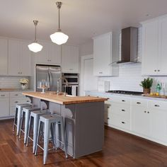 gray kitchen island butcher block top transitional kitchen grey kitchen island
