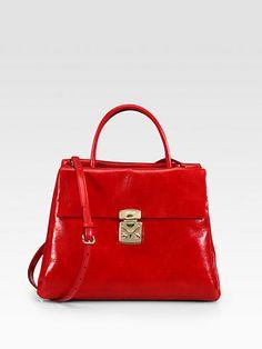 Miu Miu - Shiny Vitello Top Handle Bag - Saks.com