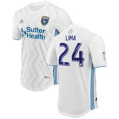 92bc5c73964 Nick Lima San Jose Earthquakes adidas 2018 Secondary Authentic Player Jersey  – White