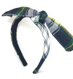Tartan Plaid Knotted Bow Headband