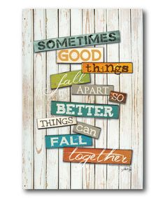 Take a look at this 'Fall Together' Wrapped Canvas on zulily today!