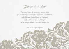 Colección de imprimibles Romantic Lace para boda | Invitaenunclic