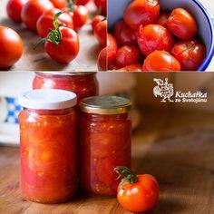 Kuchařka ze Svatojánu: STERILOVANÁ RAJČATA Preserving Food, Kimchi, Ketchup, Preserves, Food And Drink, Homemade, Canning, Vegetables, Drinks