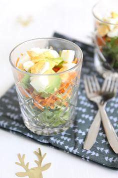 Salade in een glaasje