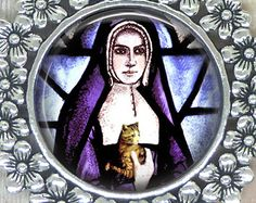 Patron Saint of Cats and Families Who Love Them, St. Gertrude of Nivelles, For a Safe, Calm and Loving Home for All. Heavenly Help has Come.