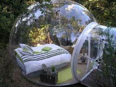 Cool bedroom, but what happens when somebody walks by and your half way undressed?