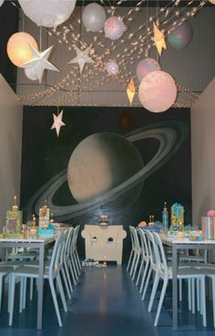 Outer Space party anyone? And kids love having Buz Lightyear parties in here.