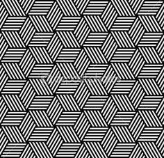 Seamless geometric pattern in op art design.