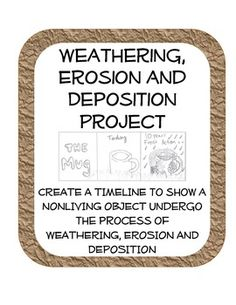 ($) idea for weathering, erosion, and deposition project