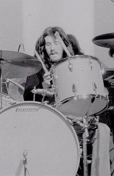 """""""John Bonham photographed by Tapani Talo during a rehearsal before the concert in Helsinki, Finland on February """" Best Rock Bands, Cool Bands, Led Zeppelin, Guillaume Bresson, Jack Bruce, Ludwig Drums, Houses Of The Holy, Metal Drum, John Bonham"""