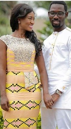 then this new selected African Attire Dresses for Couples will be the African Inspired Fashion, African Print Fashion, Africa Fashion, Men's Fashion, Fashion Styles, Dress Fashion, Fashion Outfits, African Attire, African Wear