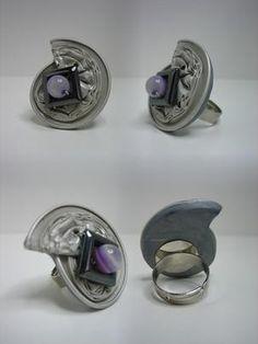 Ring, 'bianco e perla', linea nicpresso