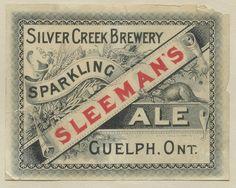Sleeman's Sparkling Ale by Thomas Fisher Rare Book Library, via design Vintage Packaging, Vintage Labels, Vintage Ads, Vintage Designs, Canadian Beer, Beer Poster, Vintage Type, Vintage Typography, Print Layout