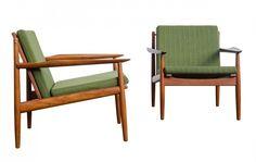 Arne Vodder teak armchairs for Glostrup Modern Furniture, Furniture Design, Armchairs, Teak, Accent Chairs, Designers, Christian, Interior Design, Retro