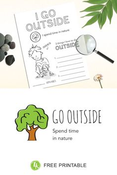 How to introduce kids to the happy habit of Going Outside Kids Health, Go Outside, Evolution, Free Printables, The Outsiders, Feelings, My Love, Eat, Children