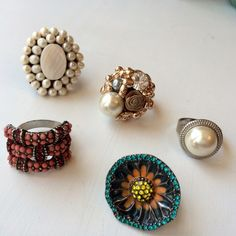 Fun, adjustable rings! Pick & choose Fun rings! All are adjustable. Choose which one, let me know, and I can make a separate post--or you can just buy them all in a bundle. Individual: $5 Jewelry Rings