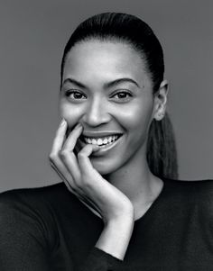 """Beyonce The Gentlewoman, Spring/Summer 2013"" You can tell that this photographer had a strong eye to see how the photograph would look in black and white. Its not an easy skill to have. I love this photograph because Beyonce looks natural and happy. Whilst her persona is a strong fearless and powerful women. But in this photograph you see a different side to her, a gentle and free spirited woman. By Hannah Wilson"