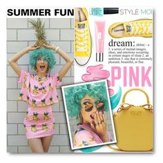 """""""Summer Fun"""" by black-fashion83 ❤ liked on Polyvore featuring Victoria's Secret PINK, Converse, Benefit, Clinique, women's clothing, women, female, woman, misses and juniors"""