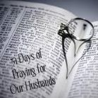 31 day challenge of praying for your husband. I'm excited to be doing this... anyone want to join me?  T.