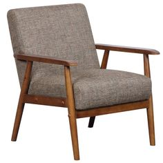 Pulaski Home Comfort Mid Century Modern Wood Frame Accent Chair, x x Neutral Chestnut * Check this awesome product by going to the link at the image. (This is an affiliate link) Brown Accent Chair, Accent Chairs, Home Comforts, Barrel Chair, Chair And Ottoman, Chair Cushions, Chair Upholstery, Dining Chair Set, Club Chairs
