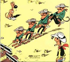 Lucky Luke & Daltons Comic Art, Comic Books, Cartoon Crazy, Bilal, Lucky Luke, Morris, Old West, Stickers, Comics