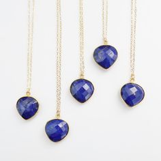 Lapis Lazuli Necklace by PinkTwig on Etsy, $38.00