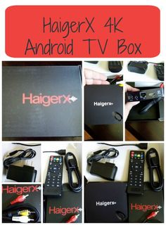 HaigerX 4K Android TV Box - Great technology to stream movies, videos and more straight to your TV!