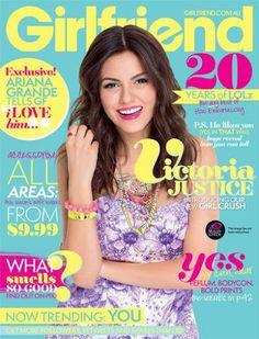 Actress and Singer Victoria Justice, 20, will be on the March issue of Girlfriend Magazine Australia.