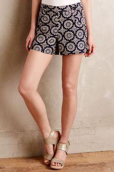 Tiled Tide Shorts - anthropologie.com