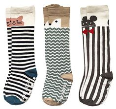 3b03f4060 Pro1rise Unisex Baby Knee High Socks Stockings Cartoon Animal Non Slip Tube Long  Socks For 1