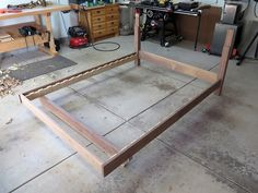First complete test assembly, minus the headboard and slats!