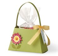 "So cute. Sweet treat ""purse"" made from card stock.(click to see Rachel's Stmpin' Up blog)"