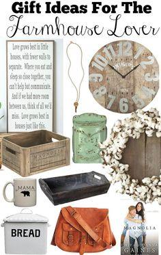 Farmhouse Style Gift Idea. Great Mother's Day Gift Ideas for the Farmhouse Lover. Holiday gift guide farmhouse decor.