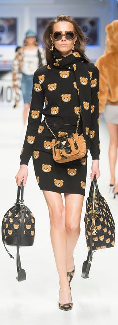 You can buy the cute bear accessories from Moschino's Fall 2015 collection right now!
