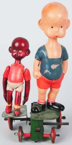 Celluloid & Tin Henry & Native Wind-Up Toy.