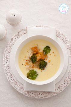 Zupa krem z pora z bazyliowymi chipsami | Lawendowy Dom