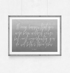 Poster quote Coco Chanel It may happen that by WeJustLikePrints
