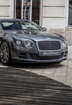 The Bentley Continental GT Speed - Super Car Center Bentley Auto, Luxury Car Brands, Luxury Cars, My Dream Car, Dream Cars, Bentley Continental Gt Speed, Super Images, Cars Uk, Top Cars