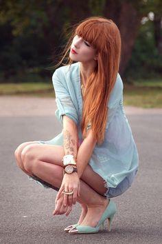 Açık Bakır Saç Rengi