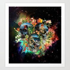 #society6 #skull #galaxy #Pyramus and Thisbe #black @society6