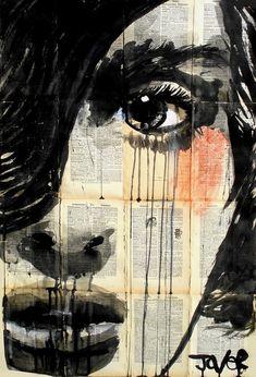 "Loui Jover; Pen and Ink, 2013, Drawing ""sleep walking"""
