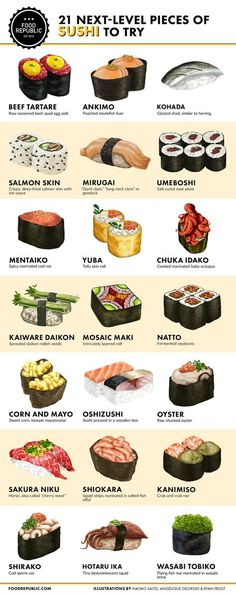 pieces of sushi