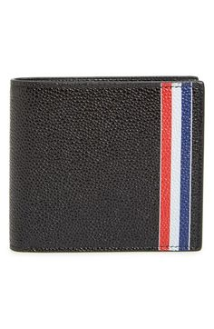 Thom Browne Billfold Pebbled Leather Wallet 5WvsXy4