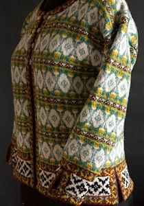 stranded knitting cardigan