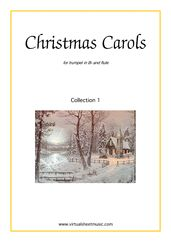 Cover icon of Christmas Sheet Music and Carols, coll.1 for trumpet and flute