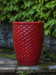 Gray Outdoor Glazed Container: Campania International: Tall Kashmir