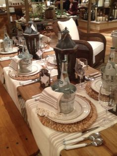 Calypso In The Country: Pottery Barn Tablescapes