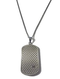 """Men's Stainless Steel 24"""" Gun Metal Curb Chain Necklace Dog Tag CZ Gem 2mm     eBay Stainless Steel Jewelry, Sale Items, Dog Tags, Dog Tag Necklace, Guns, Pendants, Chain, Metal, Shop"""