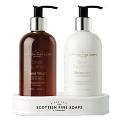 Scottish Fine Soaps Silver Buckthorn Hand Care Set 2 x 300 ml Bottles Scottish Fashion, Shower Set, Bath Shower, Hotel Amenities, Soap Company, Hand Care, Hand Lotion, Dry Hands, Men's Grooming